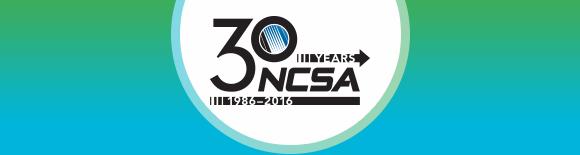NCSA 30th Anniversary logo