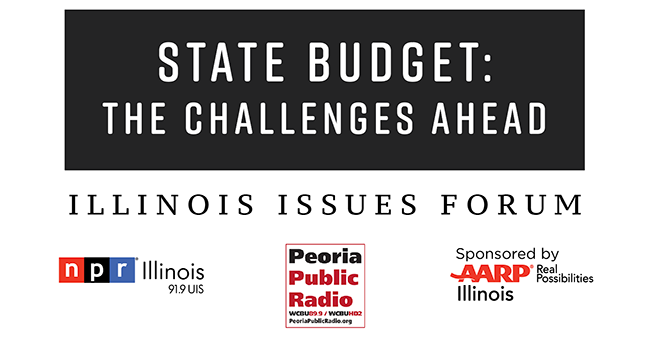 State Budget: The Challenges Ahead - An Illinois Issues Forum. NPR Illinois | 91.9 UIS. Peoria Public Radio. Sponsored by AARP Illinois - Real Possibilities. July 20 at 6 PM. Peoria City Hall Chamber