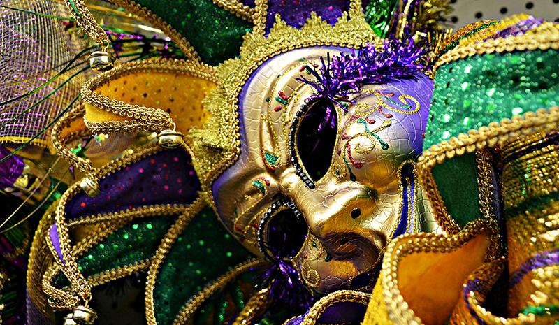 Mardi Gras mask detail