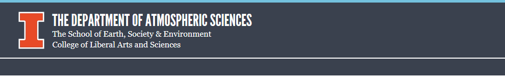 Department of Atmospheric Sciences - University of Illinois - Logo and Banner
