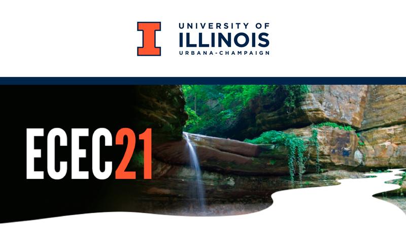 University of Illinois wordmark and ECEC21 graphic