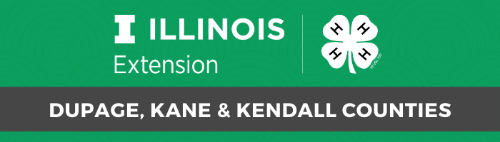 University of Illinois Extension 4-H logo and DuPage, Kane & Kendall Counties Text