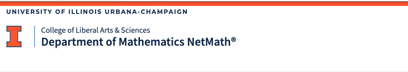 Department of Mathematics NetMath logo
