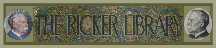 Ricker Library banner